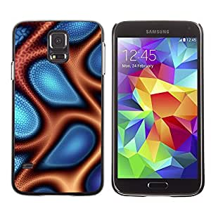 GagaDesign Phone Accessories: Hard Case Cover for Samsung Galaxy S5 - Abstract Blue & Orange