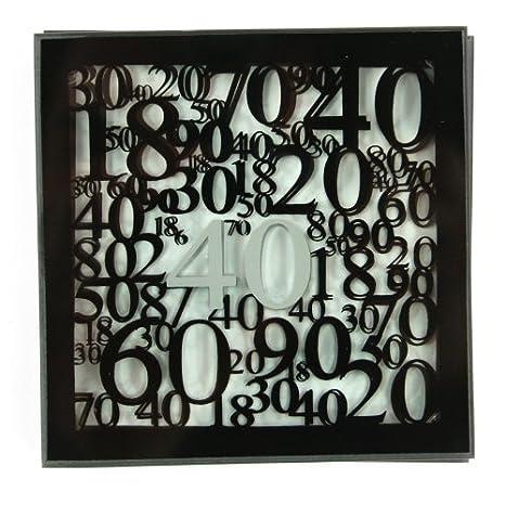 Amazon.com: Juego de 2 40 40th cumpleaños de vidrio ...