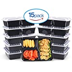 Cool-Shop 3-Compartments Meal Prep Containers / BPA Plastice Reusable Food Storage Container with Airtight Lid for Bento Box Lunch Box (15)