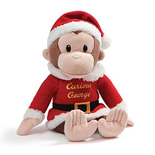 GUND Curious George Holiday Santa Suit Stuffed Animal Christmas Plush, Multicolor, 12
