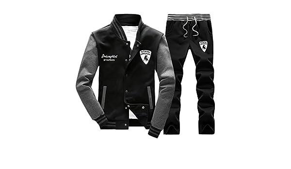 Mens Casual Sweatshirt Tracksuit Baseball Coat Jacket Sports Pants Sweatsuit New