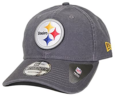 Pittsburgh Steelers New Era NFL 9Twenty Core Classic Graphite Adjustable Hat by New Era