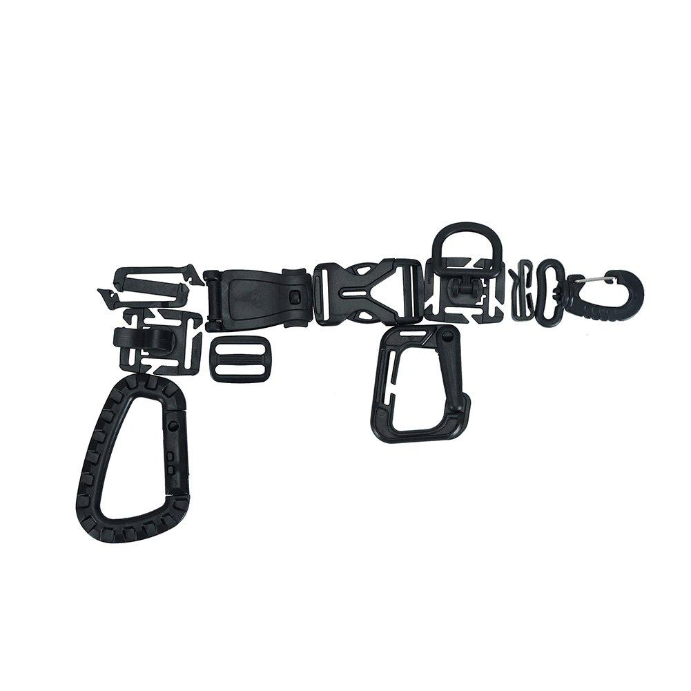 OneTigris Multifunctional Grimloc Tactical Quick Release Buckle Molle Webbing Organizer Snap Kyechain TG-520