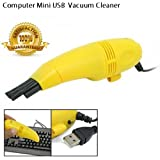 Gooseberry Mini USB Vacuum Cleaner Brush Dust Cleaning Kit for Computer, Keyboard, PC Laptop