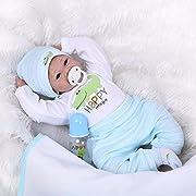 22Handmade Lifelike Baby Boy Girl Silicone Vinyl Reborn Newborn Dolls +Clothes