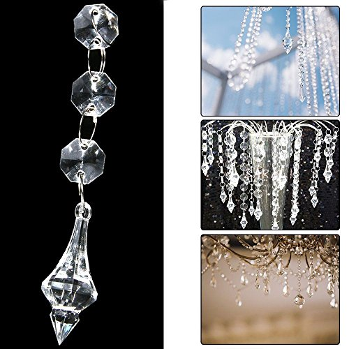 30X Acrylic Crystal Hanging Decoration Garland Bead For Wedding Club Party Decor