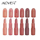Matte Lipstick,Aliver 6 Colors Lipsticks Set Matte for Girls Women Waterproof Long-Lasting Moisturizing Makeup Lipsticks,Nude and Natural Color Dark