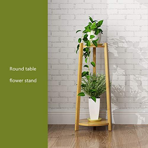 Flower Shelf,Pot Rack Folding Bamboo Plant Stands Garden Holder Display Shelf Ladder Outdoor Indoor-b 30x73cm(12x29inch)
