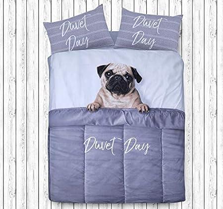 Bulldog Duvet Quilt Cover Bedding Set /& Pillowcases Pug Puppy Dog Cute Pooch