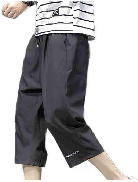 Tootess メンズファッションビッグ&トールリラックスサマー3/4パンツパラッツォラウンジパンツ