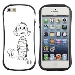 Suave TPU GEL Carcasa Funda Silicona Blando Estuche Caso de protección (para) Apple Iphone 5 / 5S / CECELL Phone case / / mouse drawing white sketch boy movie /