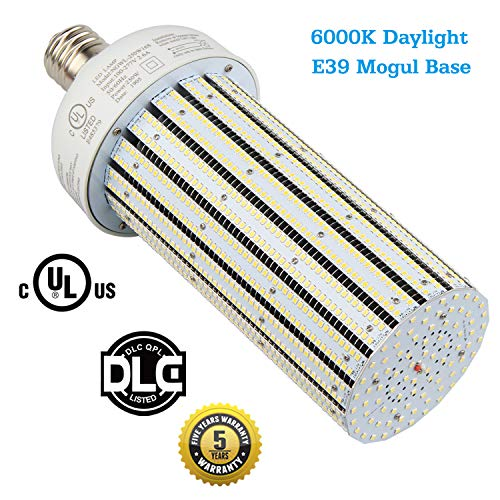 250W LED Corn Light Bulb Replace 1000Watt Metal Halide Warehouse High Bay Lights, HID, HPS Retrofit, Large Mogul E39 Base, 6000K Daylight White in Workshop, Storage Room (250Watt 6000K CoolWhite)