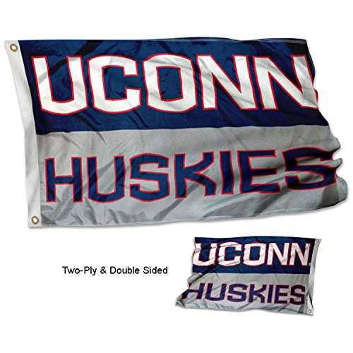 College Flags and Banners Co. Connecticut Huskies Double Sided Flag