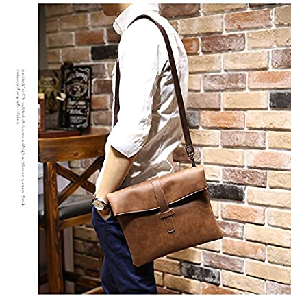Buy Genric New Crazy Horse PU leather Men Bag Small Coin Purse Shoulder Bag  Vintage Design Handmade Zipper Style Messenger Bags Handbags Online at Low  ... 5f47572e4ab28