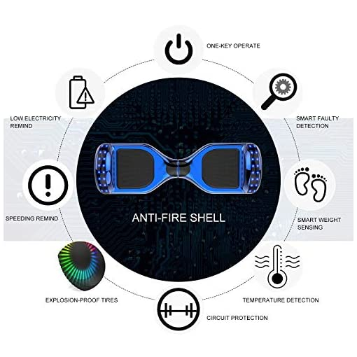 NEOMOTION Hoverboard 6.5 Pouces Overboard avec Bluetooth LED Flash Trottinette Electrique avec Moteur Puissant Clignotant Gyropode Nouveau Modèle Jouet et Cadeau pour Enfants