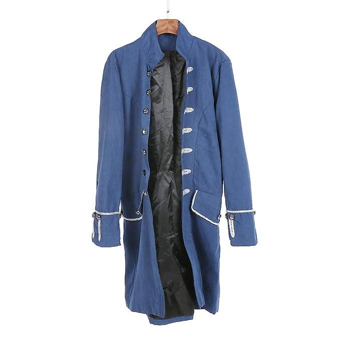 Abrigos de Hombre, Dragon868 otoño Primavera Hombres PFIFF gótico Vestido Uniforme Traje Praty Outwear: Amazon.es: Ropa y accesorios