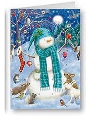 Snowman Advent Calendar Christmas Greeting Card Xmas Cards