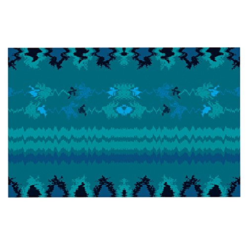 "well-wreapped KESS InHouse NM1054BDM02 Nina May ""Turquoise Nava"" Teal Tribal Dog Place Mat, 24"" x 15"""
