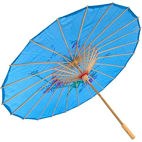 JapanBargain S-2178, Kid's Size Chinese Japanese Oriental Parasol Umbrella 22-inch, Blue Color ()