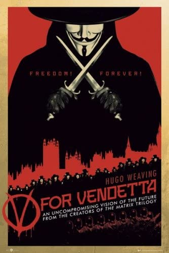 Amazon Com V For Vendetta Movie Poster Regular Style 2 Size