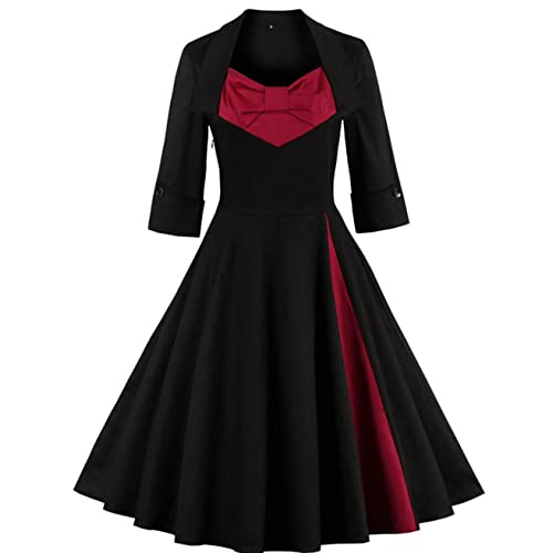 KILOLONE 1950 Vintage Dress Plus Size Rockabilly Pinup Cocktail Swing Dresses