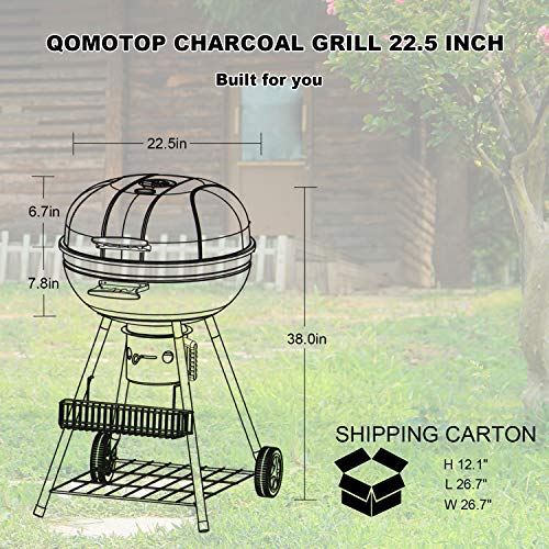 round portable charcoal grill