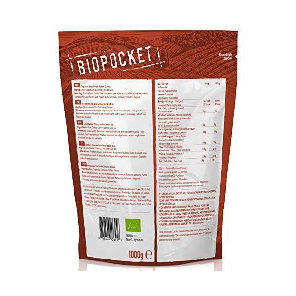 Biopocket, datteri denocciolati essiccati, 1000 g