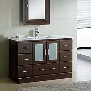 48 bathroom vanity ceramic lavatory top integrated sink. Black Bedroom Furniture Sets. Home Design Ideas
