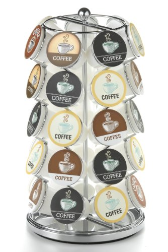 Cup Holder Dimensions - Nifty K-Cup Carousel in Chrome Holds 35 K-Cups.