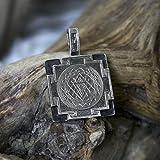 Sri Yantra Pendant Sterling Silver MADE TO ORDER, sri yantra necklace, sri yantra amulet