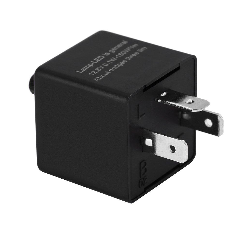 luz LED regulable rel/é para intermitente CF13-JL02 Fix para intermitente indicador de luz Rel/é de 3 pines de 12 V para coche con luz LED Keenso