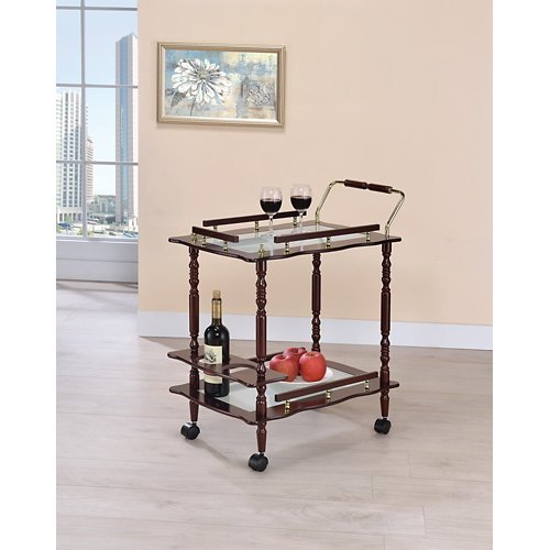 Serving Cart in Cherry - Coaster