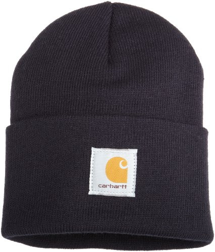 Carhartt Men's Acrylic Watch Hat A18, Navy, One Size]()