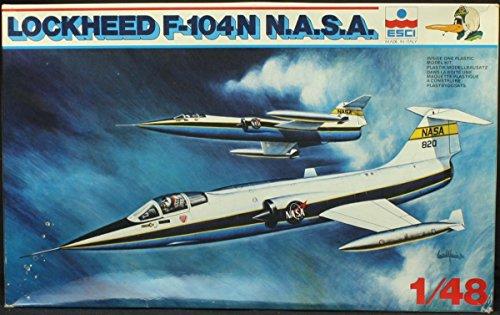 ESCI 1:48 Lockheed F-104N NASA Model Kit #4049*