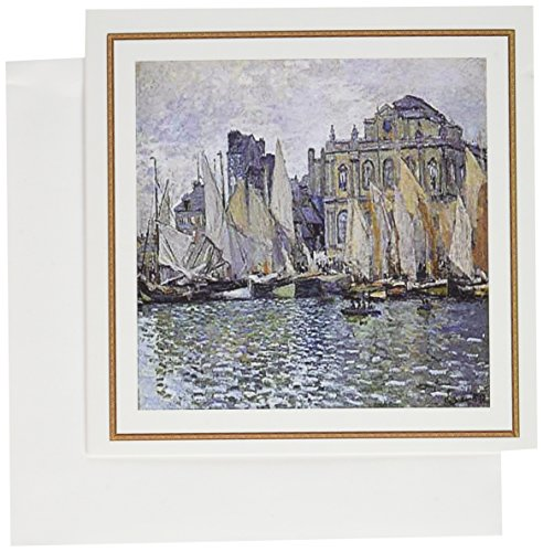 3dRose Monet Painting Museumn At Le Havre - Greeting Cards, 6 x 6 inches, set of 6 (gc_57615_1)