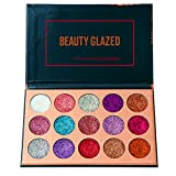 Beauty Glazed Eyeshadow Palette Ultra Pigmented Mineral Pressed Glitter Make Up Eye Shadow Powder Flash Colors Long Lasting Waterproof 15 Colors
