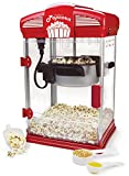 West Bend 82515 Hot Oil Theater Style Popcorn Popper Machine Offers Nonstick Kettle Fast and Durable with Easy Clean Up, Theater, Red
