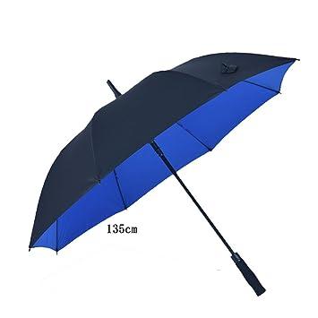 Patas dobles de golf abiertas automáticas Paño paraguas Paño negro de mangas largas Dos personas Tres