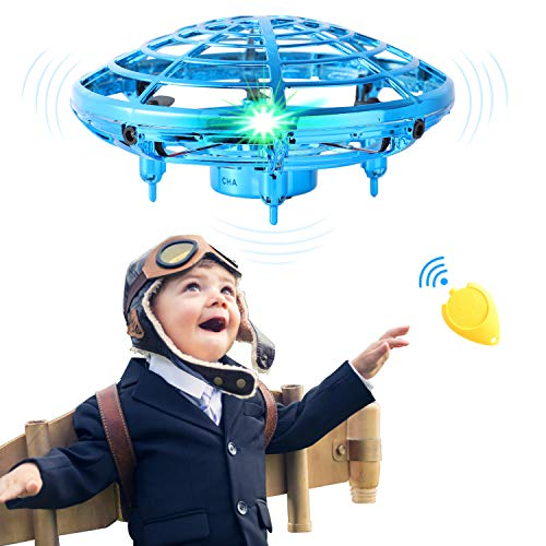 Flying Toys for Kids Mini UFO Drone Hand Operated Drones with 2 Speed, Flying Ball Drone Easy Indoor Outdoor Toys, Great…