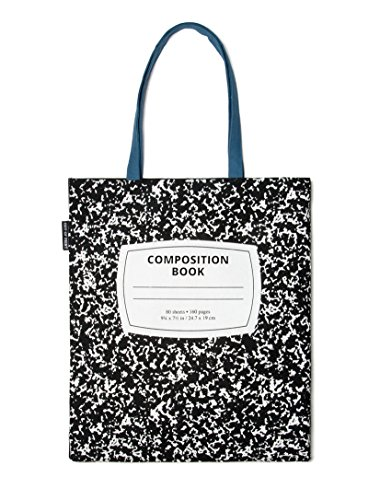 Out of Print Composition Notebook Tote Bag, 15 X 17 Inches