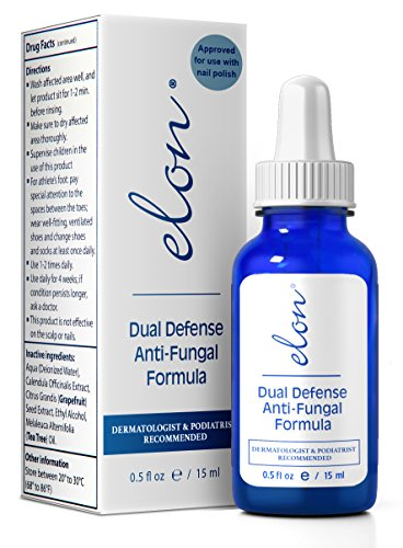 ELON – Dual Defense Anti-Fungal Formula – 15ml | Professionally Formulated to Fight Toenail & Fingernail Fungus | High Concentration of Undecylenic Acid – 25% | Safe, Natural & Effective (1 Pack