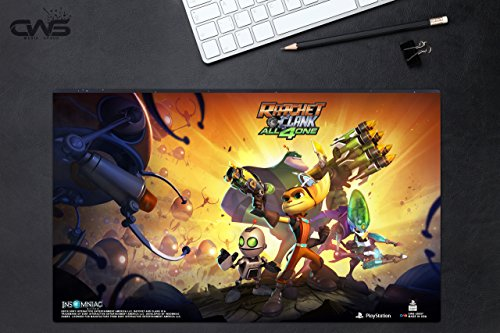 """Price comparison product image CWS Media Group Officially Licensed Ratchet and Clank Mousepad Playmat (24"""" x 14"""" Inches)"""