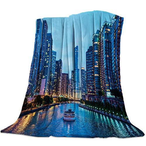 Anzona Lightweight Flannel Fleece Bed Blankets 49'' x