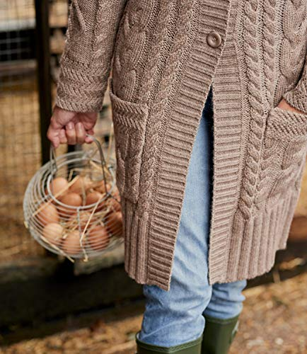 S Pure Pepper Laine Wool Femme Cardigan Overs Manteau n4F0R