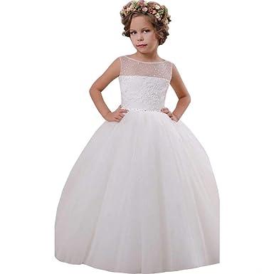 25ced9cb656 Suiun Dress Flower Girls Dress Wedding Dress Accessories Tulle Skirt First  Communion Dresses for Girls Ivory