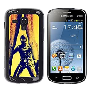 All Phone Most Case / Hard PC Metal piece Shell Slim Cover Protective Case for Samsung Galaxy S Duos S7562 Bdsm Maks Man Woman Legs Art Painting