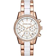 Michael Kors Womens Ritz Two-Tone Chronograph Watch