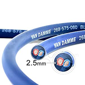 Van Damme Professional Blue Series - Cable para altavoces (2 x 2.5 mm, 14AWG, 10 m)