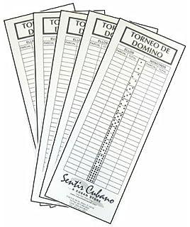 Domino score pad 100 sheets. Torneo domino by Sentir Cubano