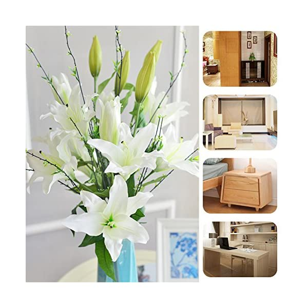 Zebery-6-Pcs-Artificial-Tiger-Lily-Latex-Real-Touch-Flowers-Fake-Flower-for-Home-and-Wedding-Decoration-Artificial-Flowers-Home-Hotel-Wedding-Party-Garden-Decorative-Arrangement-Flowers